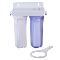 double Water Filter with a clear color bottle