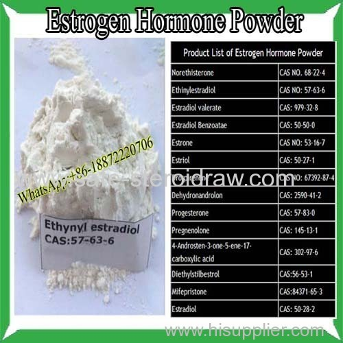 Steroid Estrogen Powder Oestrogen Ethynylestradiol For Female Health CAS 57-63-6