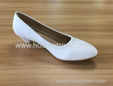 Low heel lady pointed toe dress shoes