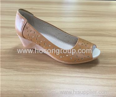 Peep toe women wedge heel dress sandals