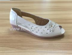 Peep toe lady casual wedge heel sandals