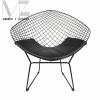 Modern Style Diamond Metal Dining Chair