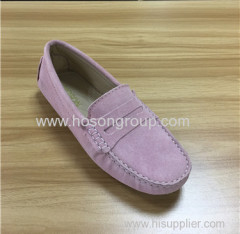 Kidsuede clip on lady flat shoes