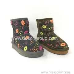 Kids clip on snow ankle boots