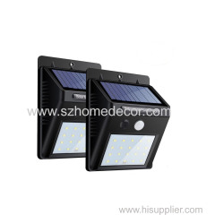 LED Solar Lights Outdoor- LEDMO Solar Motion Sensor Light- 20LED Super Bright Solar Security Lights with Waterproof Wire
