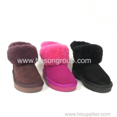 Kids clip on warm snow boots