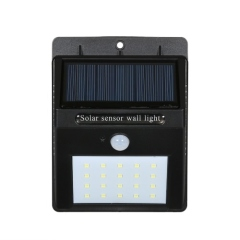Solar Power Sensor Wall 20 LED Ultra Bright Wireless Security Motion Waterproof Outdoor Light for Patio/Deck/Yard/Garden