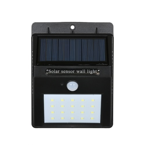 Solar Power Sensor Wall 20 LED Ultra Bright