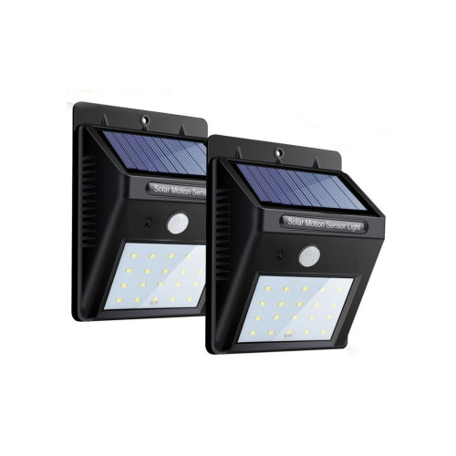 Solar Sensor Wall Lights Super Bright Motion Garden Night Lights 20 LED Waterproof Outdoor Security Wall Light