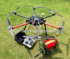 Drone UAV Aerial inspection of Power line Transmission Towers as overhead cable conductor tension stringing equipment