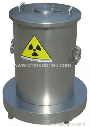 lead container for nuclear wastes from hospitals
