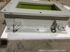 ZF6 lead glass window with painted steel frame