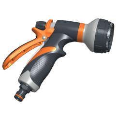 Plastic outside multi-function garden trigger nozzle