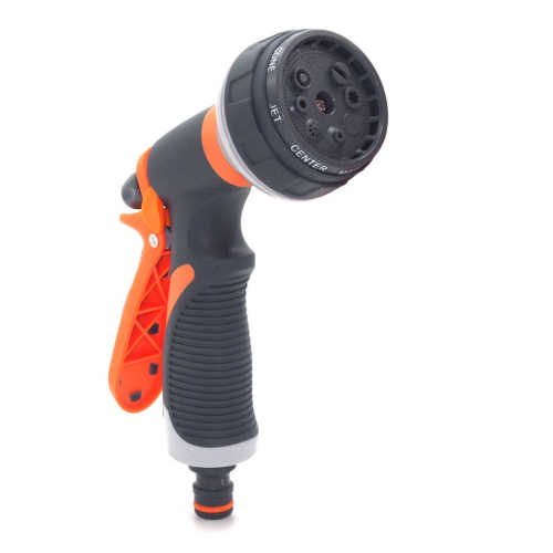 Plastic garden multi-pattern water spray nozzle