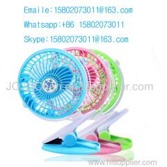 New USB Rechargeable Portable Fan Mini Clip Desk Stroller Multifunction