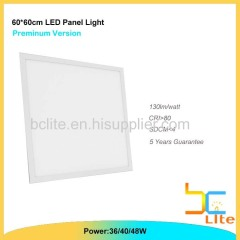 China 600X600 ultra slim LED panel light for office lighting
