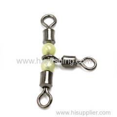 Cross-line rolling swivel with pearl beads(Size: 2/0*1/0 1*2 3*4 5*6 7*8 10*12)