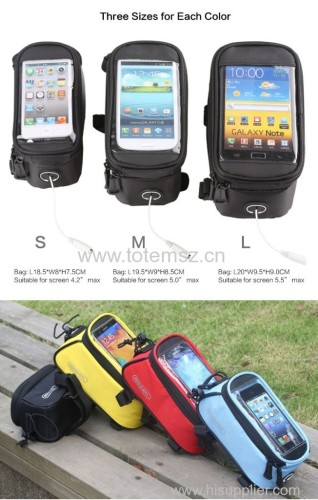 5.5 /4.8 /4.2 Inches Roswheel Front Bike Frame Tube Bag for Cell Phone