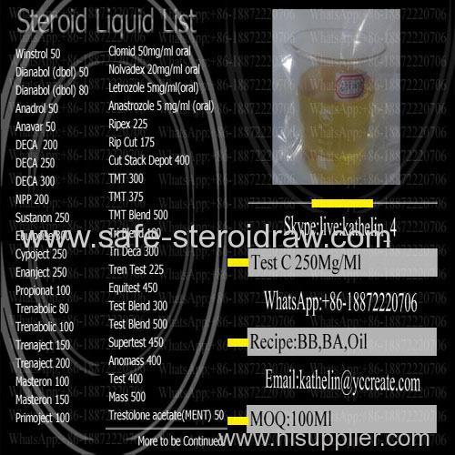 Semi Finished Steroid liquid Cypoject 250 Test C / Test Cyp