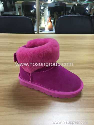 Children ankle boots with fur