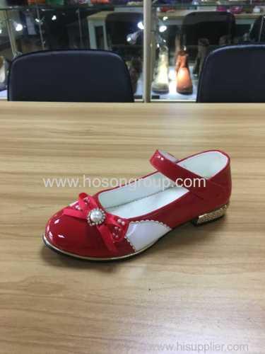 Girls bowtie velcro dress sandals