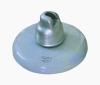 Porcelain disc insulator for high voltage