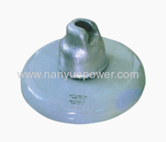 Porcelain disc insulator for high voltage