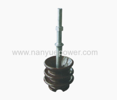 Spindles for use with pin insulators)