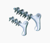 Strain clamp with bolt type