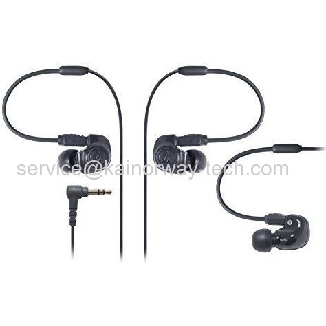 New Audio-Technica IM Series Black Duel Symphonic-Driver In The Ear Monitor Earphones Earbuds ATH-IM50