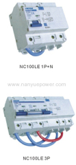 NC100LE Residual current circuit breaker with over current protection