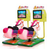 Hot Sale 3D Video Games Machine Childrens Happy Kiddie Rides 3D Horse Game Console Swing Game Machine For Amusement Park