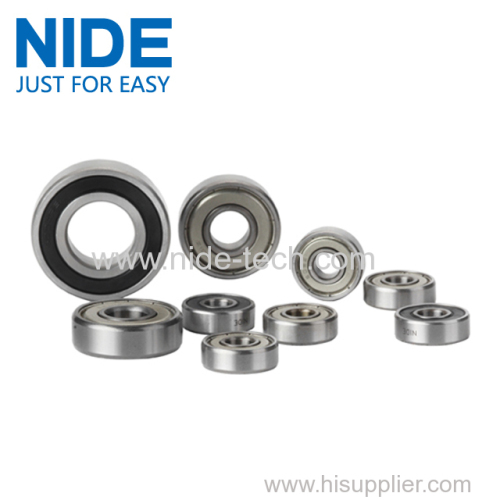 motor component Low Noise Sealed Motor Deep Groove Ball Bearings