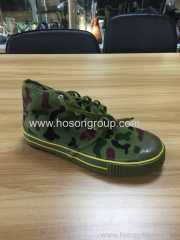 Camouflage lace military shoes