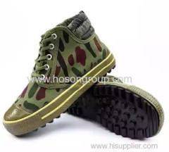 Round toe camouflage tie up footwear