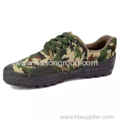 Vulcanization military lace footwear