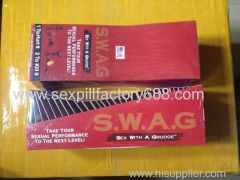 hot selling 30capsules+30pills S.W.A.G sexual performance pills