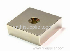 Screw hole Neodymium block magnet /block magnete with countersunk hole