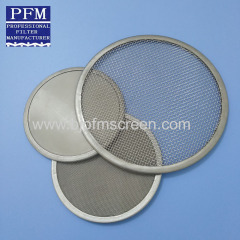 plain weave filter mesh disc