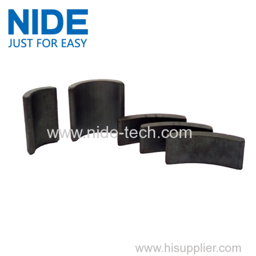 Electric motor ferrite magnet roll tile block