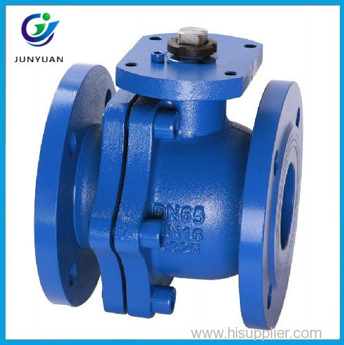 ISO 5211 Direct Mounting Pad 2PC Flange Type PN16 RB Ball Valve for Water