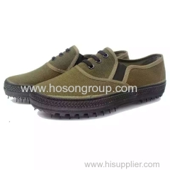 Elastic band men military shoes