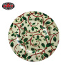 Plastic Plate with Holly Printing