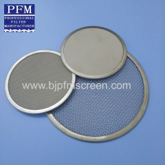 Stainless Steel Filter Mesh Discs