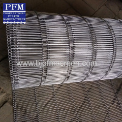 stainless steel wire belt with interlaced bars