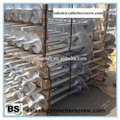 Galvanized steel square lead helical anchor for deep foundation
