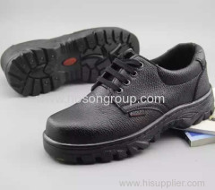 Round toe lace safety men footwear