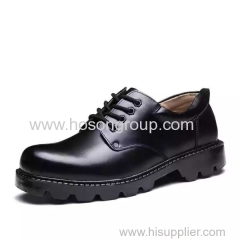 PU patent leather men lace up shoes