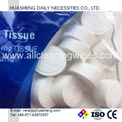 Compressed Coin Tablets Tissues