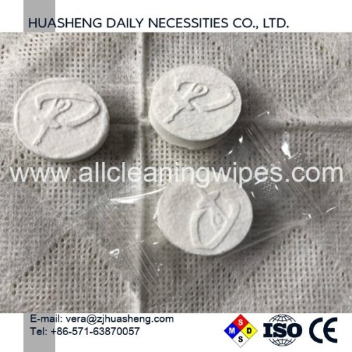 100% Biodegradable capsule compressed tissue napkin